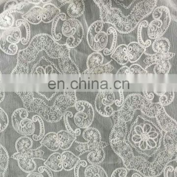 chiffon embroidery lace fabric for lady's summer garment