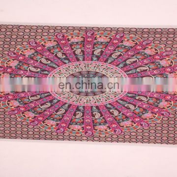 wholesale custom wall elephant mandala tapestry cotton hippie tapestries