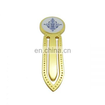 custom zinc alloy gold casting creative bookmark for wholeslae