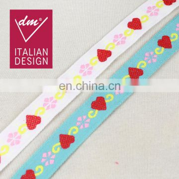 Factory price fancy colorway webbing tape accessories heart ribbon