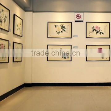 Chinese traditional culture peony blossom handmade painting with Calligraphy by famous painter