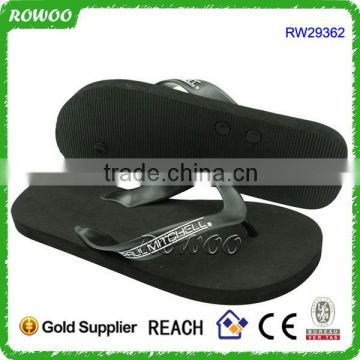 EVA foam rubber beach flip flops,men indoor black flip flops