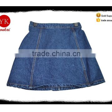Buttoned Denim Skirt for women OEM ladies jeans Denim Garments pants bootcut skinny jeans skirts for female