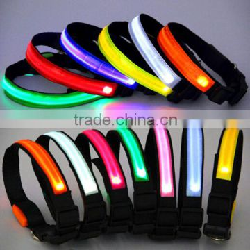 Wholease led flashing pet collar/led pet collar/led dog collar