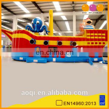 Factory price customized inflatable pirate boat with high quality inflatable ship bouncer kid for sale