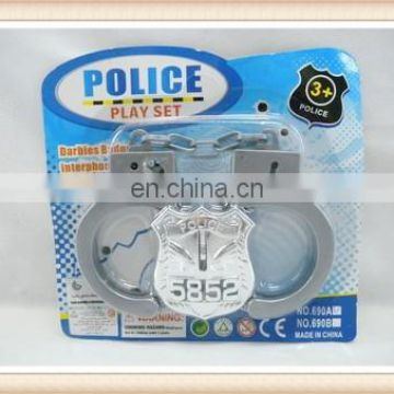 yingxing cheap price metal police handcuff toy with key