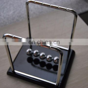 Wooden Base Newtons Cradle With Metal Frame