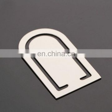 Customize logo metal bookmark with high quality