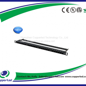 UTP 0.5u Cat.6A Patch Panel 24Port with back bar