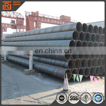 600mmOD SSAW welded steel pipe, 700mm diameter water pipe steel pipe pile