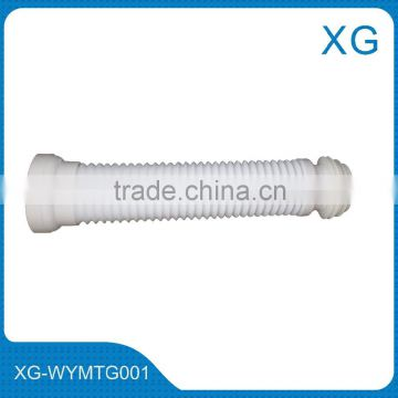 PVC flexible WC pan waste sewer pipe/Flexible shifting tube/Toilet