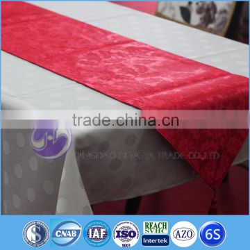 New design fancy custom satin wedding table runners