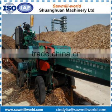 Diesel engine wood chipper shredder machine for chipping wood
