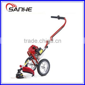 HOT!!!BC430 Hand Push Brush Cutter with wheels / 43cc gasoline hand push grass trimmer