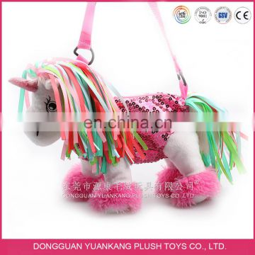 Lovely animal in bag plush bag backpack for girls