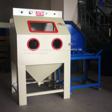 Box type manual sandblasting machine,The oxide layer can be removed