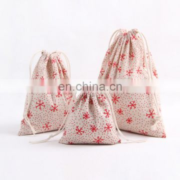 Christmas gift bags decoration drawstring Christmas Bag shopping Candy Bags wholesale
