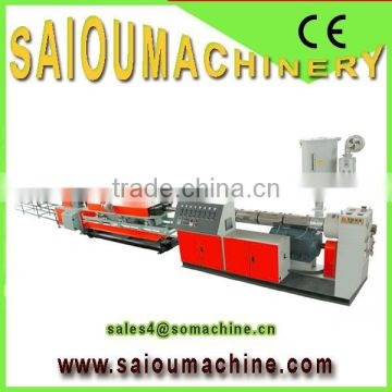 pp single wall corrugated pipe extrusion making line