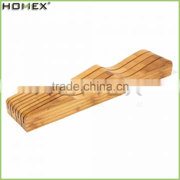 In Drawer Bamboo Knife Block Storage Holder/Homex_FSC/BSCI Factory