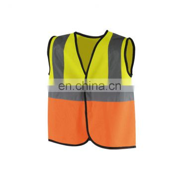 Reflective safety simple Stitching yellow and orange Child vest