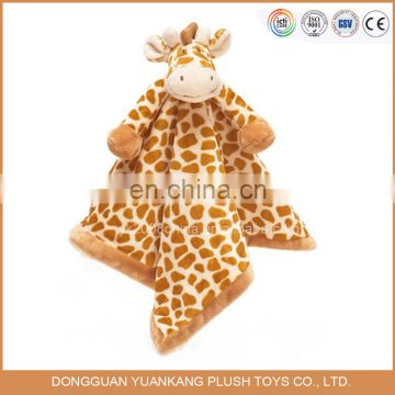 YK BRC wholesale cheap embroidery animal head plush baby blanket