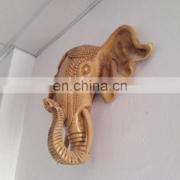 lively resin elephant head sculpture for home decoration