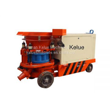 Less waste wet mix concrete spray pump