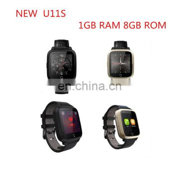 New U11s Smart Watch 3G WCDMA SIM Heart Rate Monitor Smartwatch WiFi GPS Wearable Devices