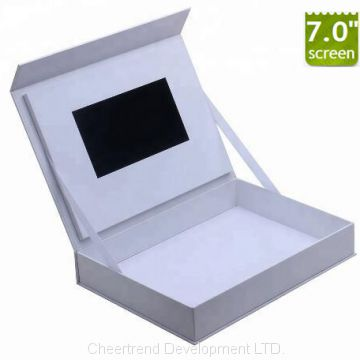 Customized white 7 inch video box for gift,advertising and promotion