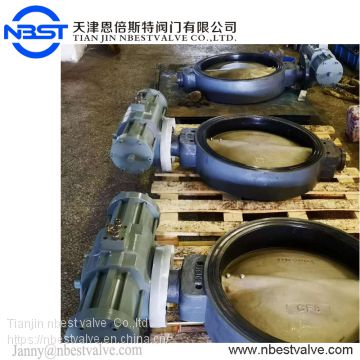 JIS5K DN500 Hydraulic Flow Control Wafer Sea Water Butterfly Valve With Thread Connection