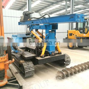 Mini excavator pile driver hydraulic highway pile driver with dust separation plant