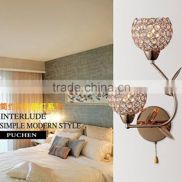 Crystal LED wall lamp with cheap price High Quality simple fashion bedroom lights model BD102