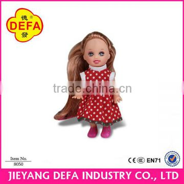 Happy Family Beautiful Jointed Girl Dolls 4 inch and 11.5 inch Small Plastic Toy Figures Custom Dolls House Furniture