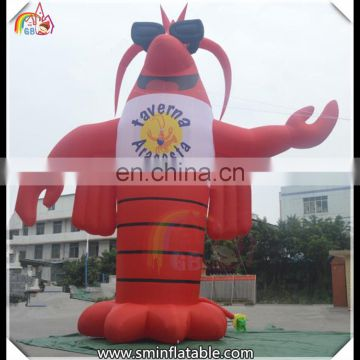 Vivid inflatable crab, lovely inflatable crab replica, advertising crab cartoon for decor