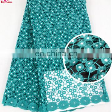 Wholesale weidding lace material\African bridal lace teal color\Guipure lace