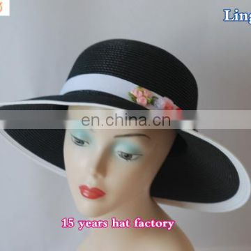 LSP-102 Wholesale 100% paper straw wholesale cheap fedora ladies straw hats
