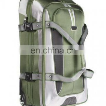 Wheeled duffle bags for promotion with backing