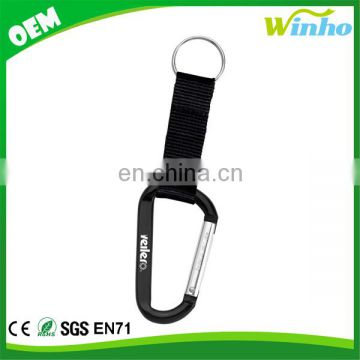 Winho Carabiner with Strap and Split Ring