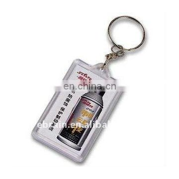 Oblong Shaped Plastic Keychain