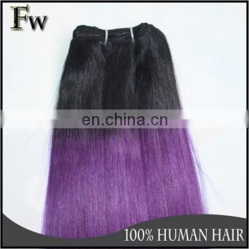 Sew in human hair weave ombre hair brazilian silky straight hair