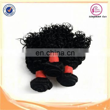 Fast delivery factory wholesale brazilian kinky curly remy hair weave