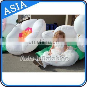 Custom inflatable flower , pvc nylon inflatable flower with led light for sale