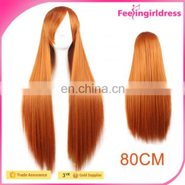Lady Sample Free Attractive Long Straight Brazilian Human Hair Wig