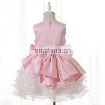 girls Pink Lacy Hem Party wear Dress