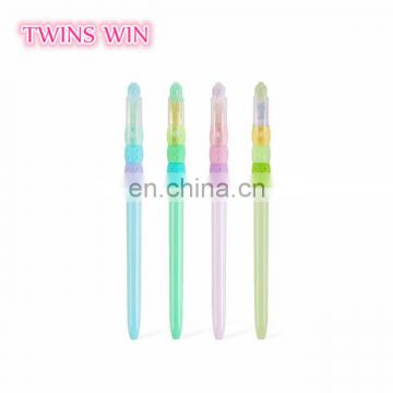 Japan Personalized gift kawaii advertising stationery cheap promotional cartoon cute colored plastic ink gel pen