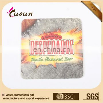 Wholesale promotional custom cheap cardboard drink coasters