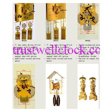 clocks parts and accessories, spare parts for wall clocks, grandfather clock, floor clocks, cuckoo clocks, spcial clocks