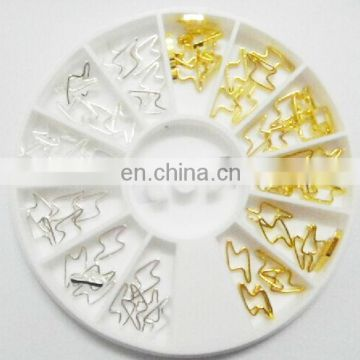 Wholesale popular gold nail product 3d nail art decoration