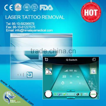 Vascular Tumours Treatment Professional Nd 800mj Yag Laser Tattoo Removal Machine 1500mj