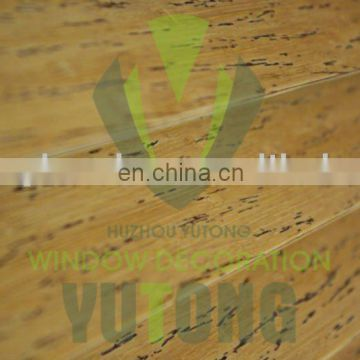Bamboo window covering - distressed bamboo